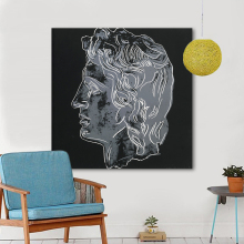 HDARTISAN Modern Pop Art Oil Painting Warhol Canvas Art Alexander The Great Wall Pictures For Living Room Home Decor Printed