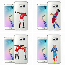 Famous KarimBenzema Cristiano Ronaldo Soccer Sports Stars Soft Clear Phone Case For Samsung  2016J5  S7 Transparent Back Cover