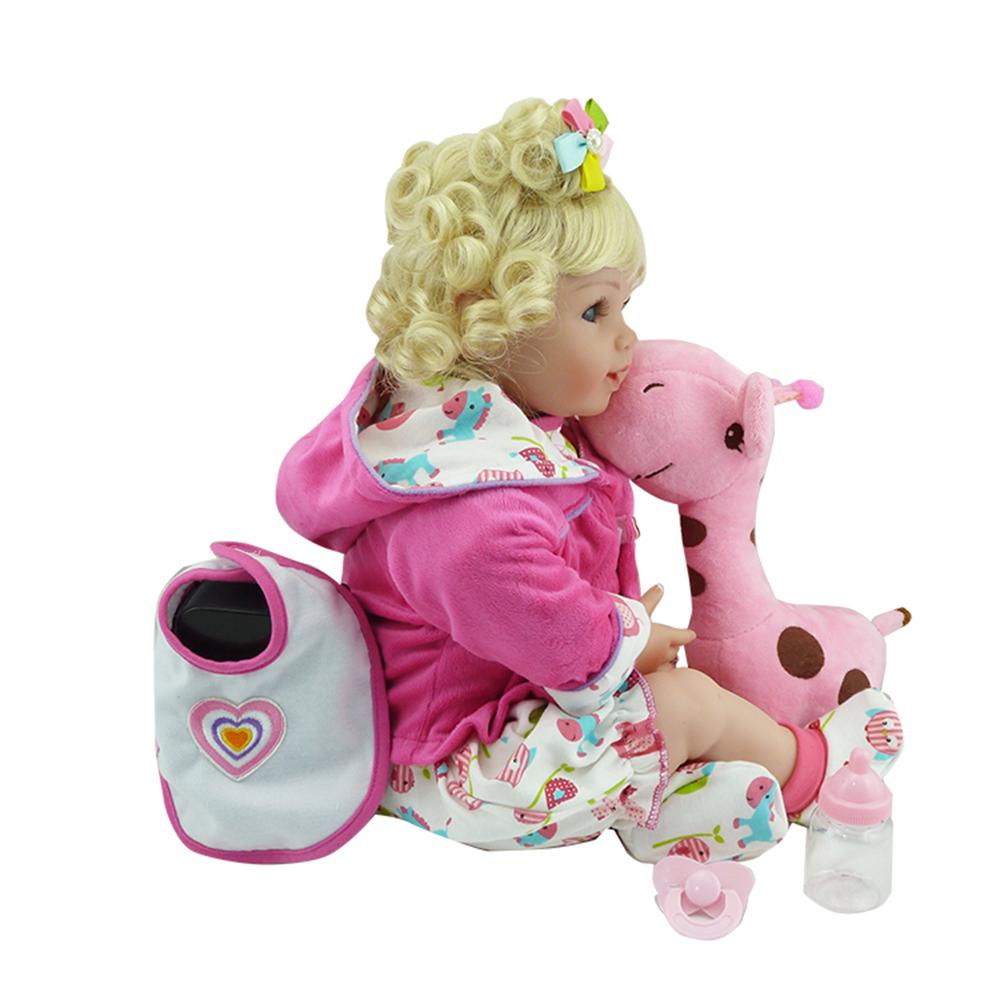 New Silicone Vinyl Adora Lifelike 20 Toddler Baby Bonecas Girl Kid Doll Bebe Reborn Menina De Silicone Toys For Children (7)