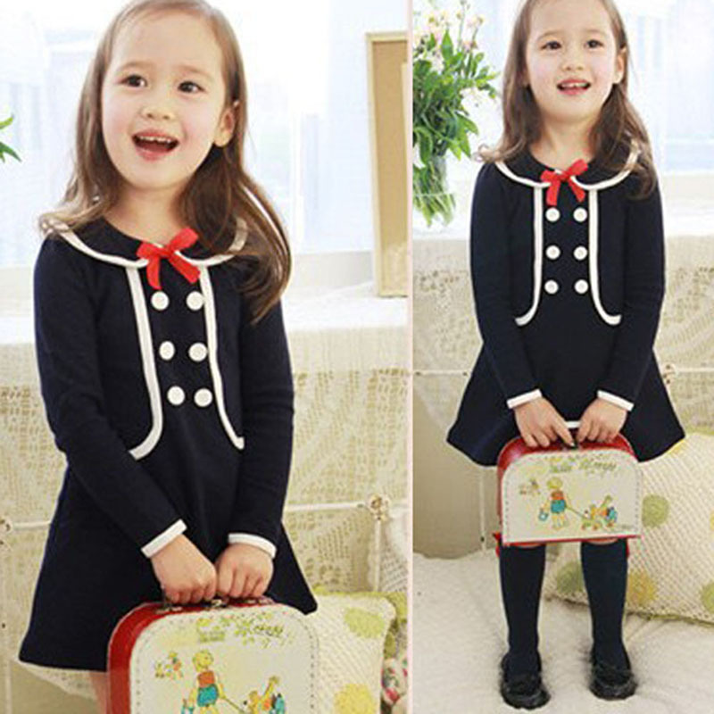 Fashion Girl Kid Newborn Tops Pullover Coat Dress Baby Toddler Preppy Style Fall Outwear<br><br>Aliexpress