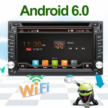Quad Core 2 din android 6.0 2din radio tape recorder Car DVD Player GPS Navigation In dash steering wheel