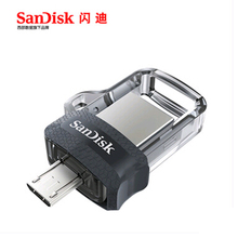 Sandisk SDDD3 Pen Drives 32GB USB 3.0 Dual OTG USB Flash Drive high speed 150M/S PenDrives(China)