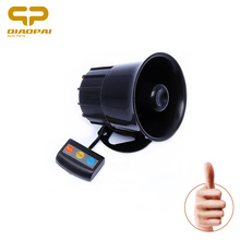 Motorcycle Car Alarm Siren 3 Tone Horn 12V Universal Loud Speaker Auto Alarm Police firemen Ambulance 3 Sound Car Horn Button(China)