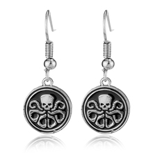 DC Marvel Comics logo Earrings Shield Agents of SHIELD S.H.I.E.L.D. Captain America Metal Octopus Drop Earrings Fashion Jewelry(China)