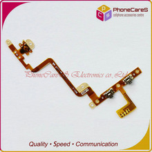 100pcs/lot Wholesale,For ipod touch 4 power on off volume button flex cable ,DHL free shipping