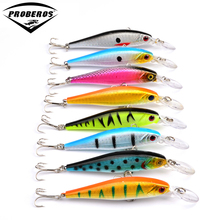 8pcs/lot spinner Fishing Lure crankbait hard bait fish 10cm/9.36g artificial baits laser Minnow fishing wobbler freeship DW1707