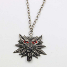 Figure Game Pendant Wizard Witcher 3 Medallion Pendant Necklace Wolf Head Necklace U Pick Color Halloween Necklace & Pendants(China)