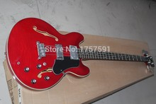 Best Top Quality new arrival supreme 4 Strings ES335 red Bass Guitar(China)