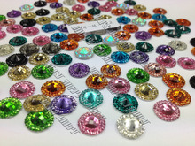 wholesale Big Discount 12mm Mixed Color 300pcs Resin Loose Beads Crystals Flat Back Rhinestones Gem Stones Accessory For Sewing(China)
