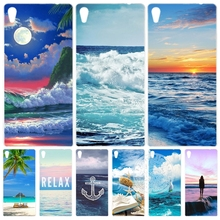blue sea wave beach summer Cover phone Case for sony xperia z2 z3 z4 z5 mini plus aqua M4 M5 E4 E5 C4 C5 XA