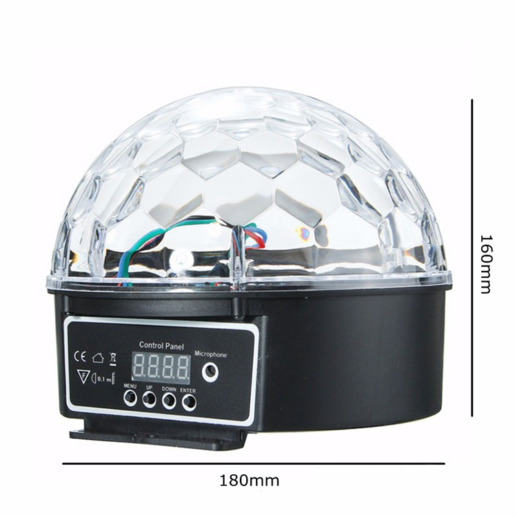DMX512 RGB Premium Sound Control Stage Light LED 18W 6LEDS RGB Magic Crystal Ball Lamp Disco Light Laser Wedding home Party laser light (3)