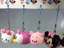 Free Shipping 10 pcs/set  Tsum  Soft Cell Phone Strap Charms Sound Doll For Best Gift  TS-20