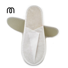 100 pairs/lot common Woven fabrics Slipper Hotel supplies hotel disposable cheap slippers LOGO OEM customized(China)