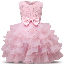 0-8 Years Kids Clothes Flower Girl Dresses Princess Costume Tutu Gown Kid Girls Graduation Ceremony Formal Party Wedding Dress(China)
