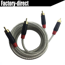 Premium quality 2 RCA male to 2 RCA male audio cable Stereo Audio cord up to 1.5M 5ft OFC conductor for TV