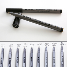 1 PC Water Resistant Fine Point Fineliner Water Based Ink Sketch Marker Brush Marker Manga Illustration Comic Animation Drawing(China)