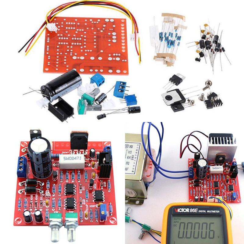 Kit Short Circuit Protection 0-30V 2MA-3A Adjustable Current Limit DIY 1pc