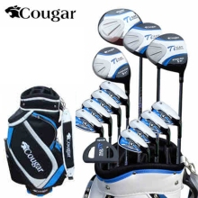 brand Cougar. 13 pics Luxury MENS golf clubs. Titanium Alloy for Rod Driver. golf irons set golf graphite shafts golf set(China)