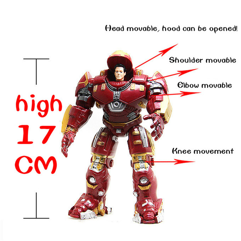 17CM and 36CM Metallic Avenger Union Iron Man helmet can open the head, shoulders, elbow, thighs, mobile childrens toys gifts<br><br>Aliexpress