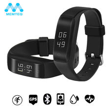 MEMTEQ GPS Smart Bracelet Band Bluetooth 4.2 OLED Wristband Heart Rate Pedometer Fitness Tracker For Android 4.4/iOS 7.0(China)