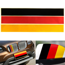 3-Color M Grille Grill Vinyl Strip Sticker Decal For BMW M3 M5 E46 German Flag 250x30mm