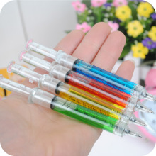 1PCS Creative Novelty Syringe Pen Peculiar Shape Lovely Stationery Ballpoint Pen Automatic Refillable Ballpen Bullet 5mm(China)