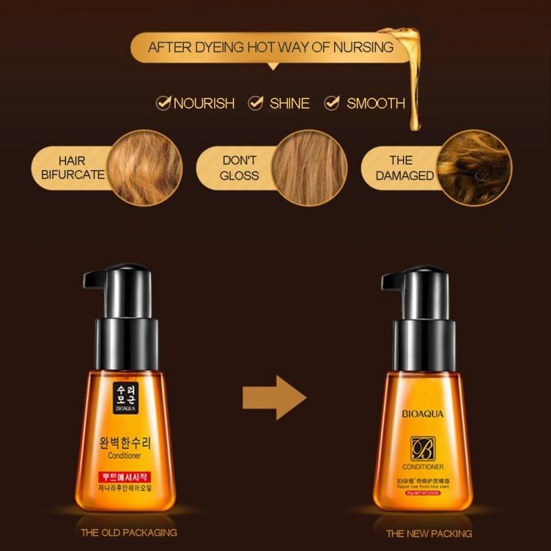 2018 New Style Korea Rose Essential Oil Conditioner Care Hair Effective Repair Moisturizing 1 PC