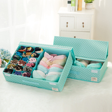 The new can be washed underwear storage box jeanette covered with corset dressings collapsible storage box D0114(China)