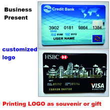 Professional Custom Logo USB Flash Credit Card 2.0 4gb -32gb Pendrive Good Gift For Business Wedding Free Gift 10 Pics Free Logo