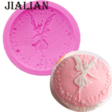 3D Flower Fairy Angel girl Fondant chocolate silicone molds cake decorating tools soap mould clay/rubber cake pop recipe T-0872
