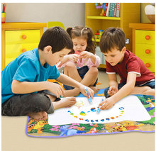 Free shipping,Aqua Doodle Children's Drawing Toys cloth Mat Magic Pen Educational Toy Mat+  Water Drawing Pen Size 70*65cm HT368