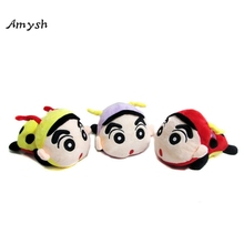 Amysh HOT toys 20cm Creative cute ladybird Crayon Shin-chan plush toys soft plush baby soft doll toys Car Pendant gifts for kids