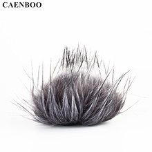 CAENBOO For TASCAM DR-40 DR40 Video Voice Recording Pen Outdoor Microphone Wind Cover Furry Windscreen Windshield Muff DR 40(China)