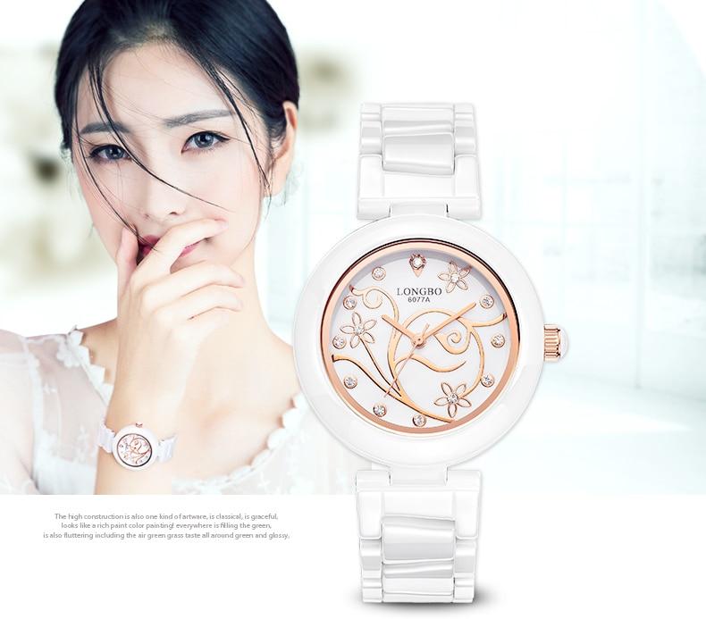 Luxury Fashion Casual Women Quartz Watches Lady Female Ceramic Flower Dress Wristwatch Girl Leisure Clock relojes mujer OP001<br><br>Aliexpress