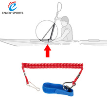 3pcs Elastic Coiled Paddle Leash Safety Rod Leash Kayak Accessory Stretch 1.95M CSY0518 for Kayak Canoe Rowing Boat 16cm 33g