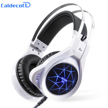 2017 Super Light Gaming Headset Heavy Bass Light Comfortable Computer LED Luminous Headphone with 3.5 Mm Earphone Microphones