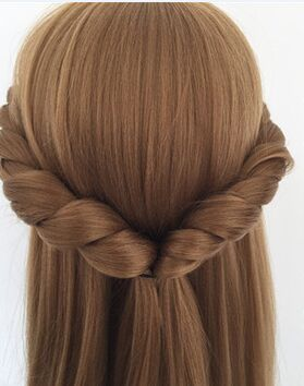 CAMMITEVER Blonde Dummy Mannequin Training Head Hair Styling Long Hair Mannequin Cosmetology Mannequin Heads Hair Models Made(China)