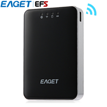 EAGET A86 Multifunctional USB 3.0 Wireless Storage Hard Disk HDD With RJ45 Interface 150Mbps 3G Router Also As Mobile Power Bank(China)