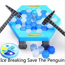 Interactive Ice Breaking Table Penguin Trap Children Funny Game Penguin Trap Activate Entertainment Toy Family Fun Game with Box(China)