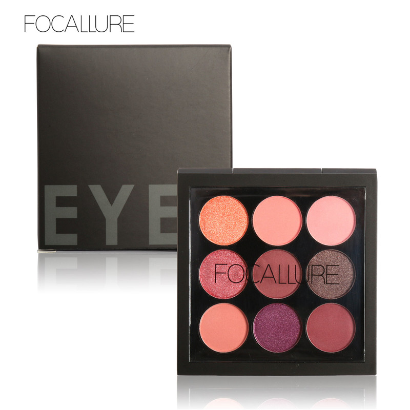 1PCS 9 Colors Matte Pigment Glitter Eyeshadow Palette Artist Shadow Palette Makeup Metallic Eye Shadow FA36(China (Mainland))