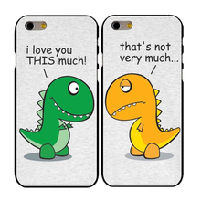 Funny Cartoon Dinosaur Best Friends Phone Hard Case For iPhone 4 4S 5C 5 SE 5S 6 6S 7 Plus
