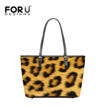 FORUDESIGNS Sexy Leopard Printed Women Tote Handbags Famous Brand New Fashion Casual Bags Ladies Zebra Pattern Beach Handbags
