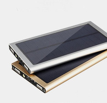 Large capacity 50000mAh Solar power bank powerbank portable usb charger 18650 cell for iPhone ipad Samsung