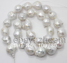 "Jewelry 006 sale 11mm*14mm natural white keshi pearl loose beads 16""long strand 5.4"