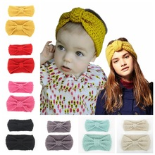 Mommy and Me Matching Turban Headband Bow Knot Headband for Winter Girl Crochet Head wrap Warmer Knitted Bow Hairband