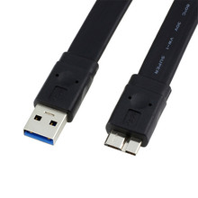 High Speed 5GB USB 3.0 A Male to USB 3.0 Micro B Male Flat Cable for Note3 S5 Thinkpad 8 SSD 30cm/60cm/100cm/150cm/300cm