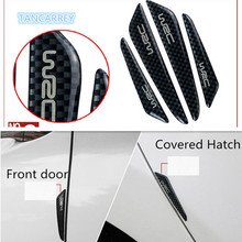 car styling door carbon fiber anti-collision stickers For fiat 500 seat leon 2 fiat punto audi q7 w211 toyota yaris mercedes(China)
