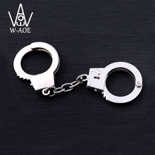 6pairs Handcuffs Toy Keychain Novel Gift Key Holder Key Chain Key Ring Waist hanged Special Souvenir 7031