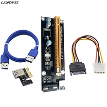 Buy LANDFOX USB 3.0 cable PCI-E Express Powered Riser Card W/ USB 3.0 extender Cable 1x 16x Monero Bitcoin BTC Miner Machine for $6.92 in AliExpress store