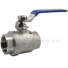 "MEGAIRON 1"" Female 2 Pieces Valves Full Port Ball Valve with Vinyl Handle WOG1000 Stainless Steel SS316 Valve Max 1000 psi(China)"